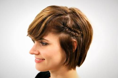 simple bridesmaid hairstyles short hair