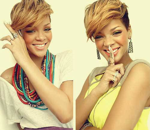 Short Black Hairstyles 2014 With Color