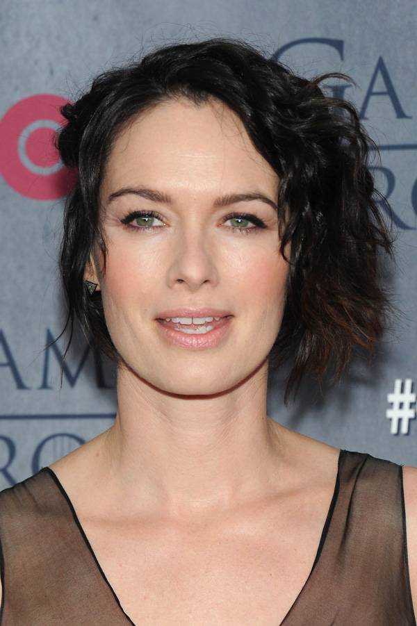 2014 Celebrity Hairstyles for Short Hair Lena-Headey-with-Short-Messy-Haircuts
