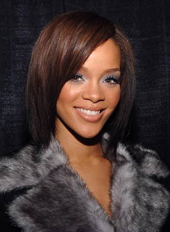 short angled bob hairstyles for black women