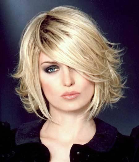 short layered angled bob hairstyles