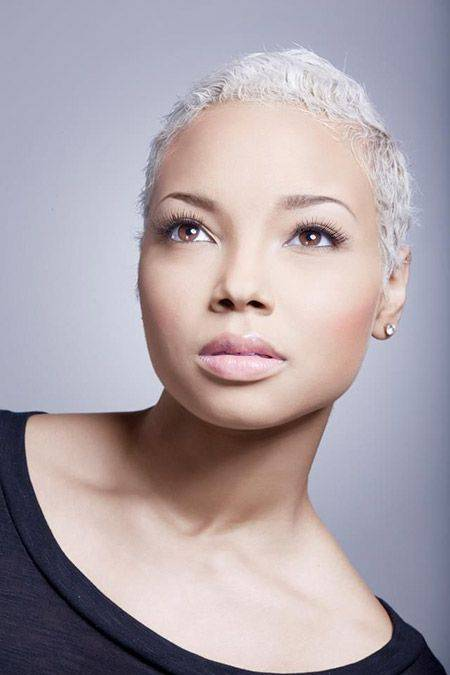 Short White Hair for Black Women