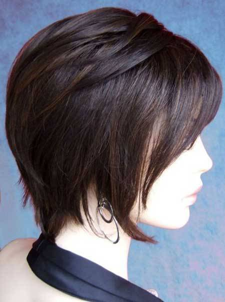 Short layered straight haircuts