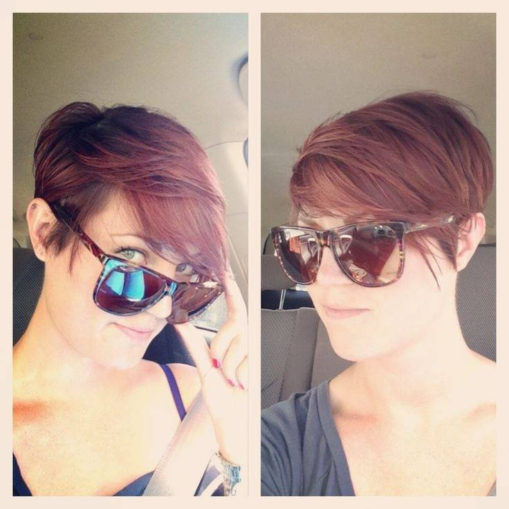 Trendy Short Pixie Haircut with Side Bangs