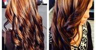 Brown Hair With Blonde And Red Highlights