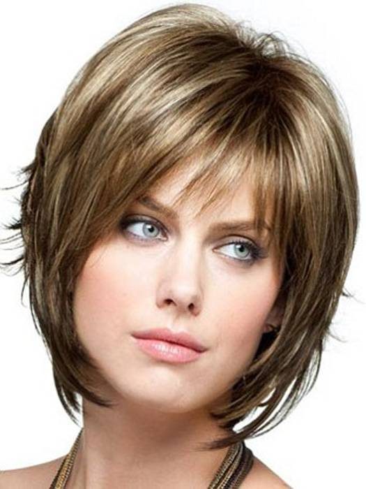 short bob hairstyles with bangs and layers