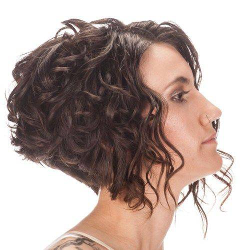Short Inverted Bob Hairstyles for Beautiful Women short-curly-inverted-bob-hairstyles