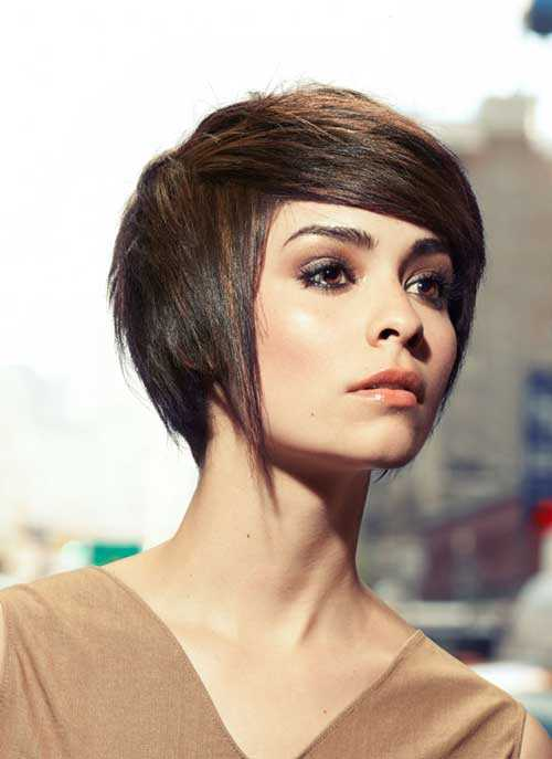 New Short Straight Hairstyles for 2015 Short-straight-hair-with-side-swept-bangs