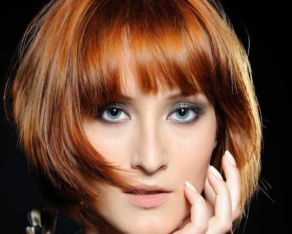 short bob hairstyles with layers and bangs