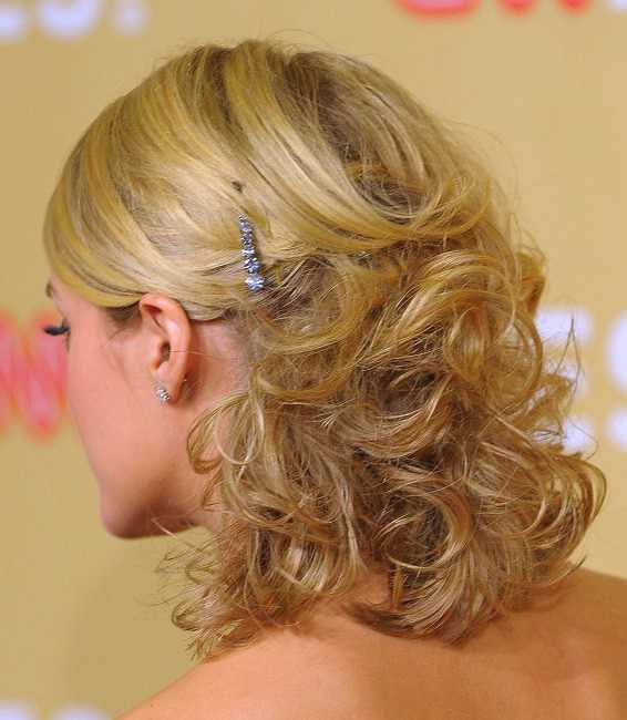 wedding hairstyles for short hair half up half down