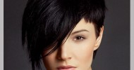 Asymmetrical Short Black Hairstyles