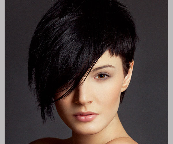 Cute Short Black Hairstyles for Women asymmetrical-short-black-hairstyles