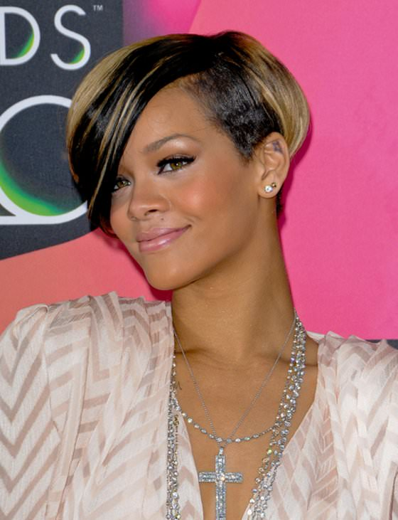 Cute Short Black Hairstyles for Women black-and-blonde-short-hairstyles