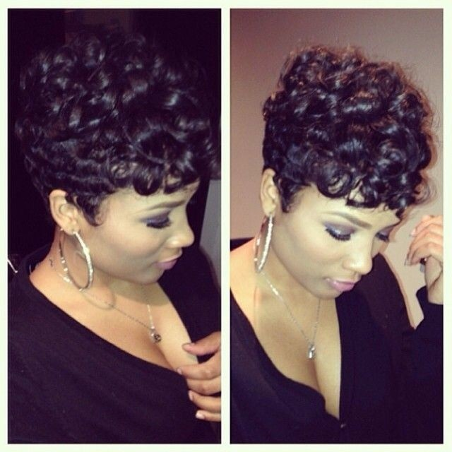 Cute Short Black Hairstyles for Women short-black-hairstyles-with-curls