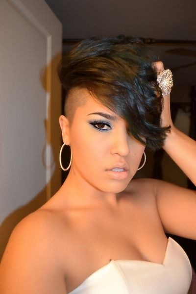 short black hairstyles with shaved sides