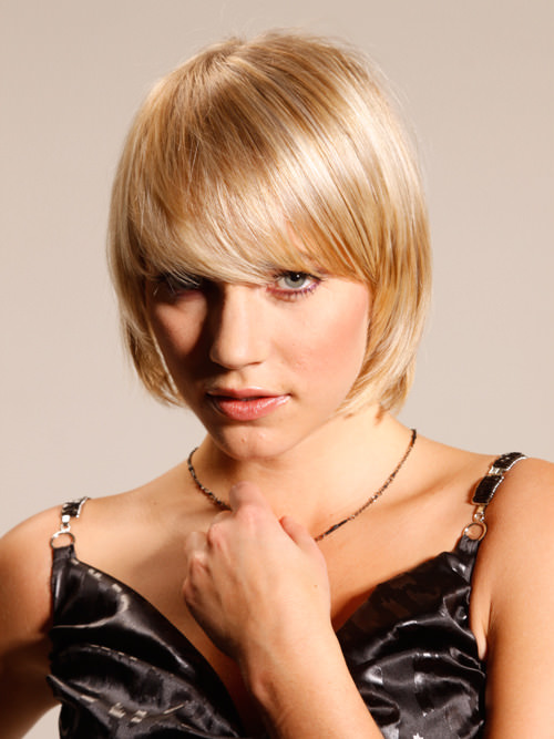 short blonde layered bob hairstyles