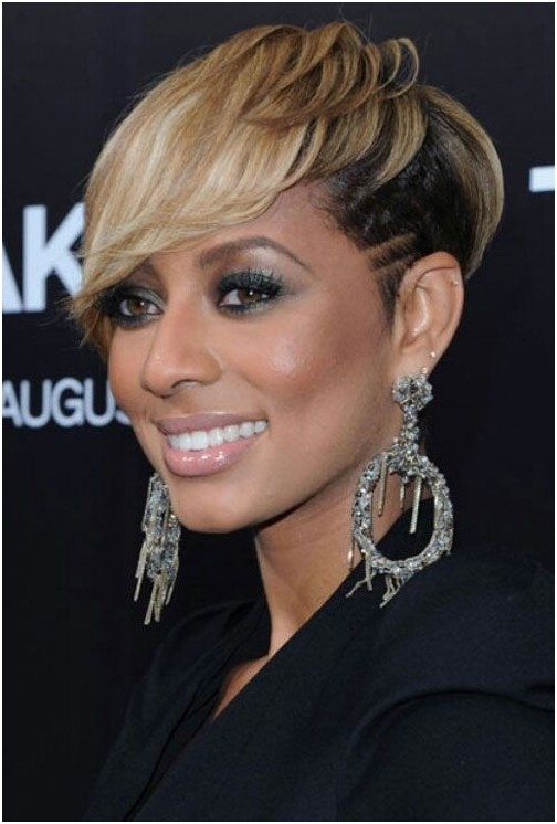 black and blonde hairstyles for short hair