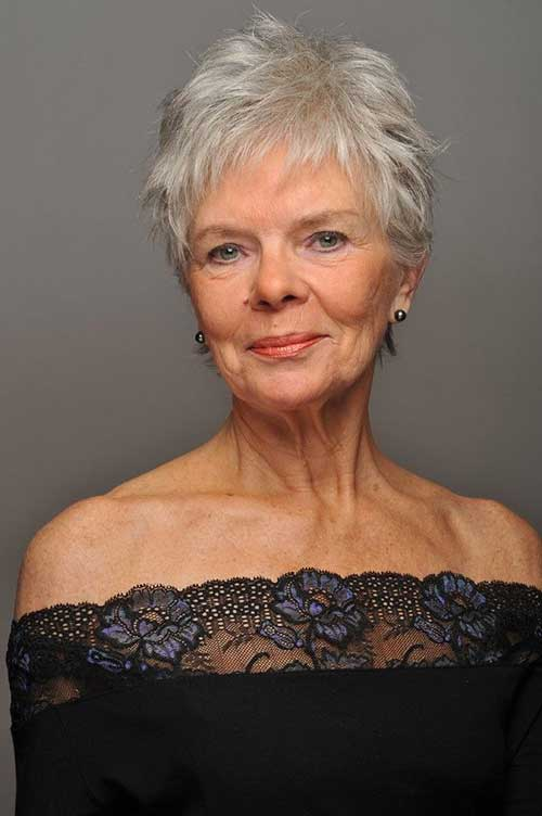 messy short hairstyles for women over 60