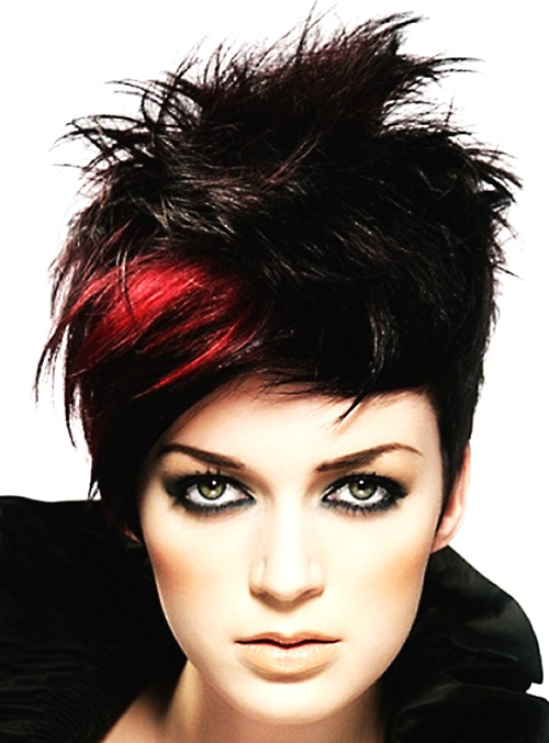 Beautiful Hairstyles for Short Black Hair red-and-black-hairstyles-for-short-hair