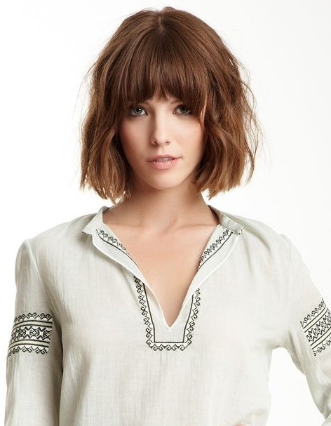Short Bob Haircut with Bangs 2015
