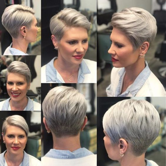 The Three Best Short Hairstyles for Gray Hair (Updated 2018) c012de10177f06b8f4edf6c3df4857d5