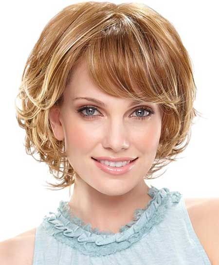 short layered bob haircut with bangs