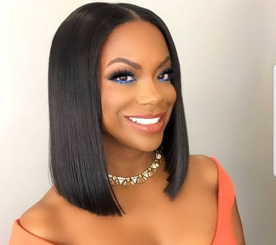 Bob Hairstyle for Black Women with Straight Hair 8