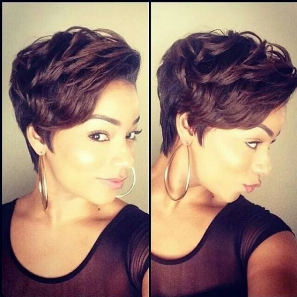 2015 Short Pixie Haircuts for Black Women