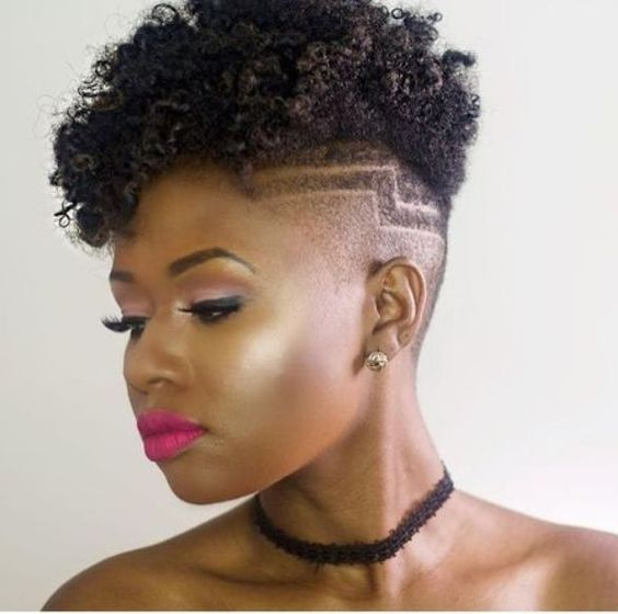 Faded Natural Curly Hairstyle for Black Women 8
