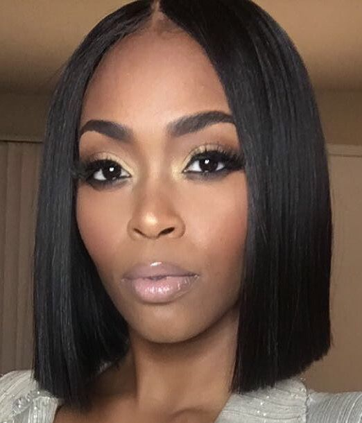 Bob Hairstyle for Black Women with Straight Hair 1