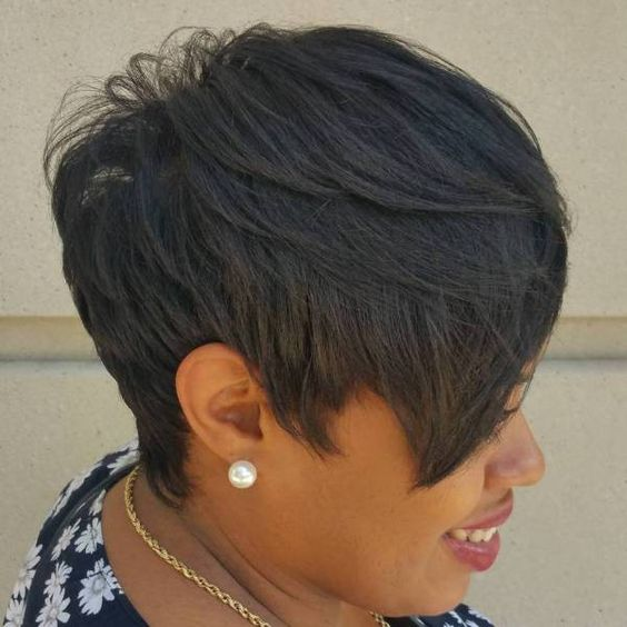 Side-Swept Pixie Haircut for Black Women 5