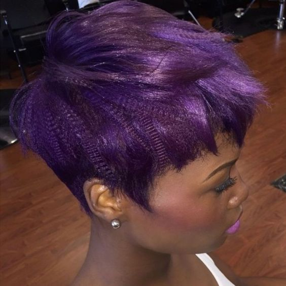 Short Straight Hairstyle for Black Women 7