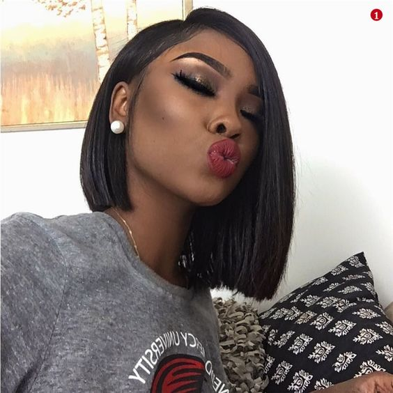 Bob Hairstyle for Black Women with Straight Hair 5