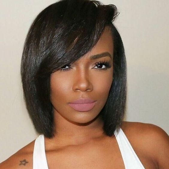 Bob Hairstyle for Black Women with Straight Hair 6