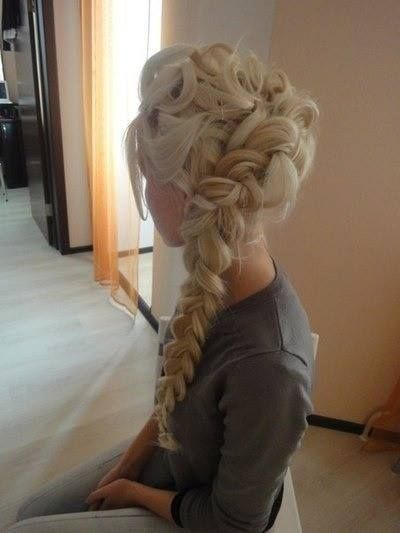 Elsa braid hairstyle for girls