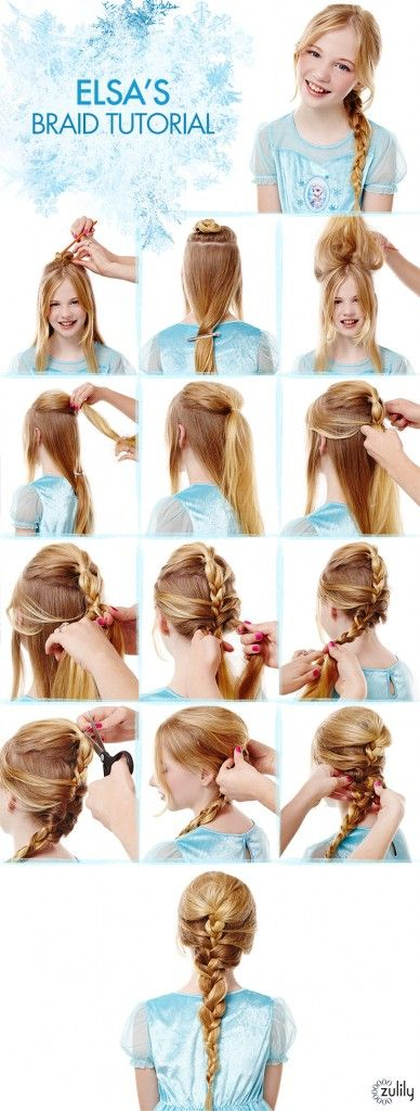Elsa Hairstyle For Girls 2015