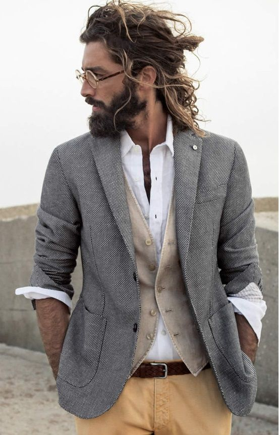 Man Buns Hairstyles With Beards 2015 man_bun_with_beards9_short-haircutstyles.com_