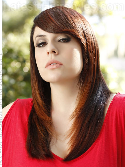 long hairstyles with side swept bangs 2016