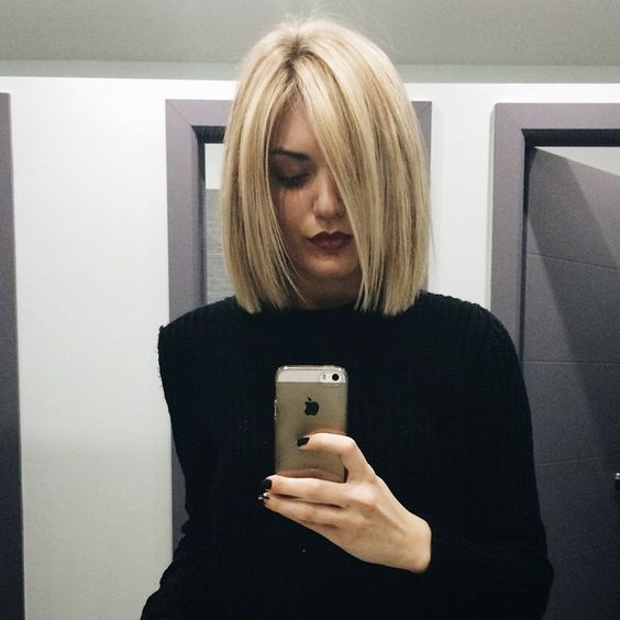 How to Cut Down Maintenance Time for Your Thick Hair blunt-bob-short-hair-3