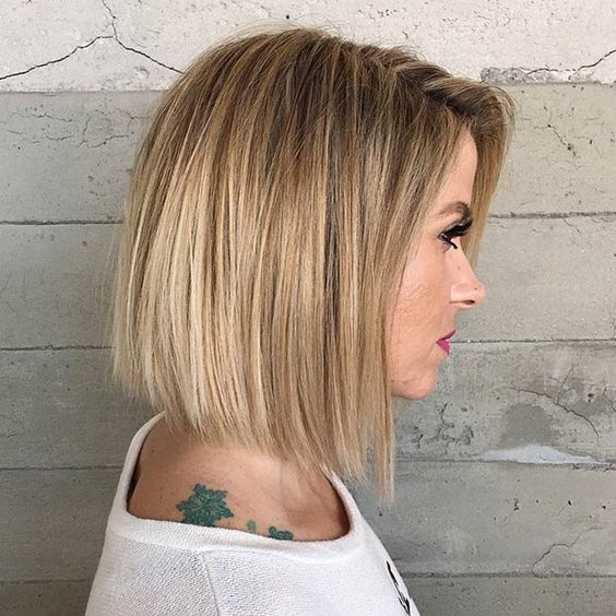 How to Cut Down Maintenance Time for Your Thick Hair blunt-bob-short-hair-4