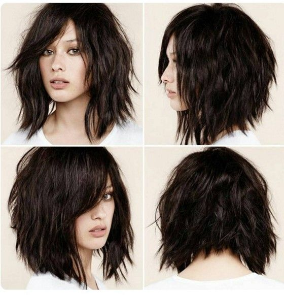 How to Cut Down Maintenance Time for Your Thick Hair choppy-lob-medium-hair-2