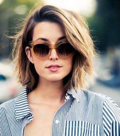 How to Cut Down Maintenance Time for Your Thick Hair choppy-lob-medium-hair-3