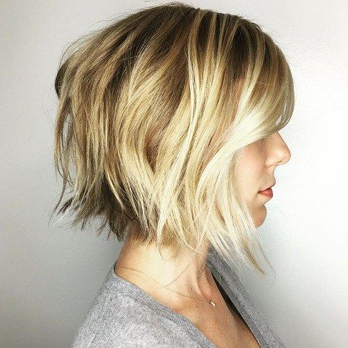 How to Cut Down Maintenance Time for Your Thick Hair choppy-lob-medium-hair-5