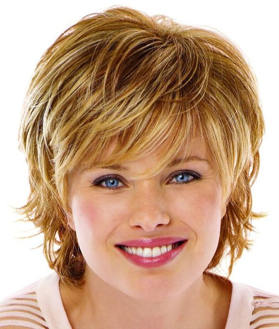 Fine Short Hair Round Face 3