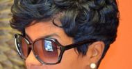 Jet Black Curly Pixie Hair Style Idea 3