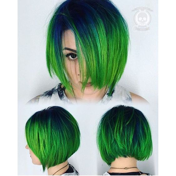 cool light green bob hairstyles ideas
