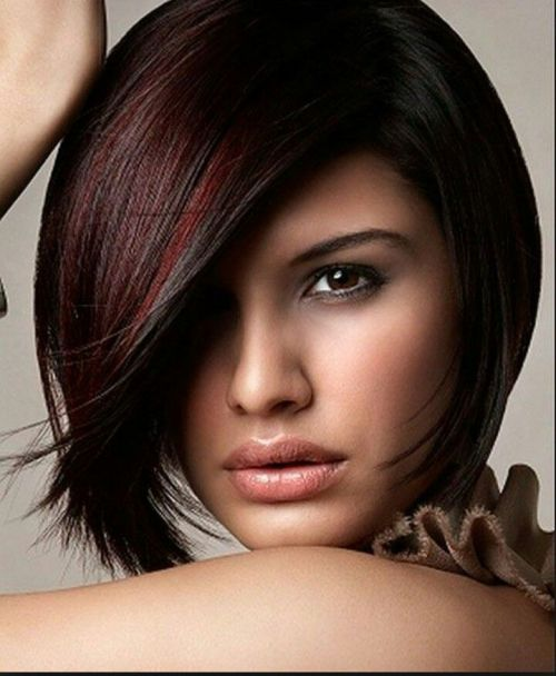 Options for Short Black Hairstyles 2016 bob-hair-cut-burgundy-highlight-style-3