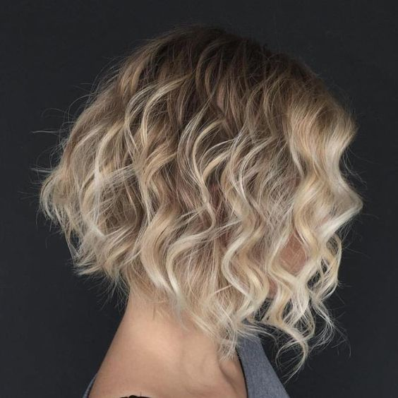 Short Hairstyles 2017, Check Them Now! Blonde_Curly_Bob_2-1