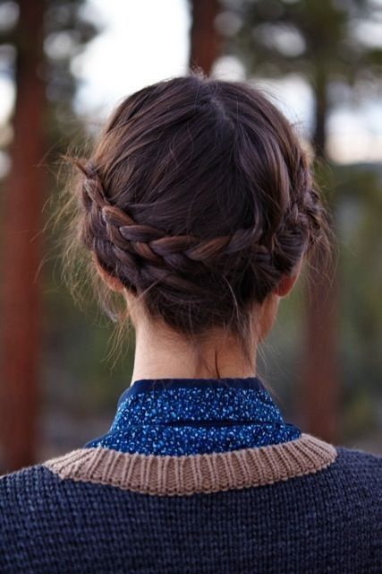 Braids For Short Hair Which Inspires Women Halo_braids_hairstyle_short_hair_1
