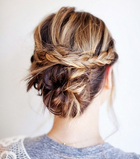 Braids For Short Hair Which Inspires Women Halo_braids_hairstyle_short_hair_2